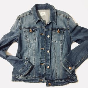 MNG Blue denim Jean jacket women's medium